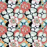 Beautiful abstract delicate flowers seamless pattern Stock Photo