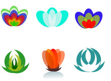 Beautiful abstract digital flower icon Royalty Free Stock Image