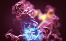 Beautiful abstract dust storm, 3d illustration. 3d illustration on the abstract theme of beautiful particles Stock Image