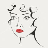Beautiful abstract face Stock Photo