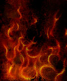 Beautiful abstract fiery on a black background Stock Photos