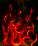 Beautiful abstract fiery on a black background.  Royalty Free Stock Photography