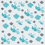 Beautiful abstract floral background in soft blue Stock Photo