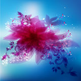 Beautiful abstract flower with abstract design elements. Royalty Free Stock Image