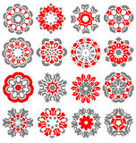 Beautiful abstract flower elements Royalty Free Stock Photos