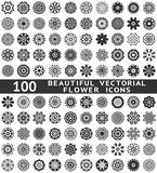 Beautiful abstract flower icons. Vector stock illustration