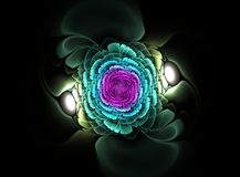 Beautiful abstract fractal flower. Computer generated image Royalty Free Stock Photo