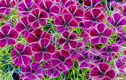Beautiful abstract fractal pictureof a flowers stock illustration