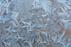 Beautiful abstract frosty pattern on the glass Royalty Free Stock Photos