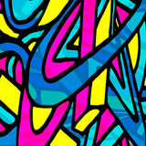 Beautiful abstract gentle graffiti pattern vector illustration Stock Images