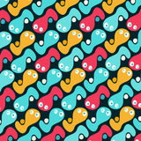 Beautiful abstract graffiti gentle pattern Stock Photo