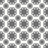 Beautiful abstract gray snowflakes on a white background seamless pattern vector illustration Stock Photo