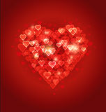 Beautiful abstract heart Bokeh background Royalty Free Stock Image