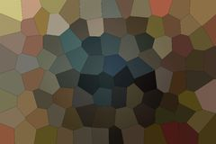 Beautiful abstract illustration of brown, red and blue Big hexagon. Useful background for your design. Beautiful abstract illustration of brown, red and blue royalty free illustration