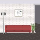 Abstract  illustration of a loft room interior. Beautiful abstract  illustration of a loft room interior Royalty Free Stock Photo