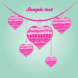 Beautiful abstract illustration for valentine day Royalty Free Stock Photography