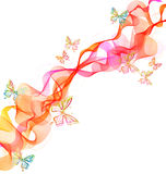 Beautiful Abstract Illustration With Butterfly Stock Photography