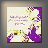 Beautiful abstract invitation card. Royalty Free Stock Image