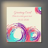 Beautiful abstract invitation card. Stock Image