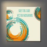 Beautiful abstract invitation card. Royalty Free Stock Images