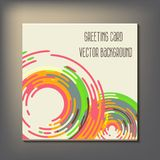 Beautiful abstract invitation card. Royalty Free Stock Photos
