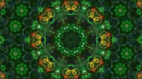 Beautiful abstract kaleidoscope that shines, bright light that arranges subtle colorful movements with waves of flowers