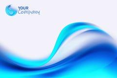 Blue modern business background design stock illustration