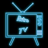 Beautiful abstract neon bright glowing icon, a signboard from an old retro tube kinescope TV from the 70s, 80s, 90s stock illustration