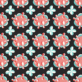 Beautiful abstract objects on a dark background seamless pattern vector illustration Royalty Free Stock Image