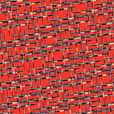 Beautiful abstract objects on a red background vector illustration Royalty Free Stock Images