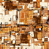 Beautiful abstract orange dark lines graffiti pattern vector illustration. (vector eps 10 Stock Photo