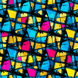 Beautiful abstract pattern psychedelic graffiti Royalty Free Stock Image