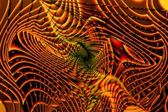 Beautiful abstract psychedelic background with fractals in orange color royalty free illustration
