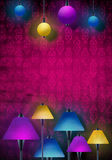 Beautiful abstract scene with lamps. Ideal for advertising, events, posters, cards and night life Royalty Free Stock Photos
