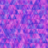 Beautiful abstract seamless background pattern with Blue, pink and purpletriangles. Vector image royalty free illustration