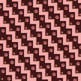 Beautiful abstract seamless geometric pattern in shades of red a Royalty Free Stock Photos
