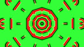 Abstract video that shines, bright light that arranges subtle colorful movements with a flower shape,green background