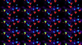 Beautiful abstract shining, bright light that arranges subtle colorful movements with waves of love, black background
