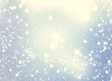 Beautiful abstract snowflake and stars Christmas background. Gol Stock Photo