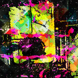 Beautiful abstract spot graffiti vector illustration Royalty Free Stock Photos