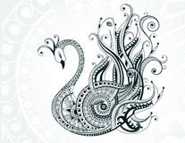 Beautiful abstract swan Stock Images