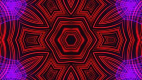 Beautiful abstract symmetry kaleidoscope with shiny neon lines, 3d render backdrop, computer generating background. Beautiful abstract symmetry kaleidoscope with stock image