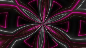 Beautiful abstract symmetry kaleidoscope with shiny neon lines, 3d render backdrop, computer generating background vector illustration
