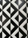 Beautiful abstract texture tiles floor and rock plate color black and white pattern background and wallpaper