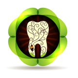 Beautiful abstract tooth Royalty Free Stock Photos