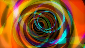 Beautiful abstract trip seamless animation. Hallucinations animation circles