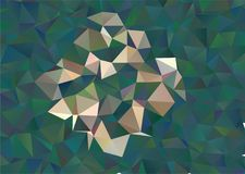Abstract spectacular low poly beautiful floral mosaic background. vector illustration