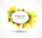 Beautiful abstract vector banner with colorful flowers. Vector illustration Stock Image