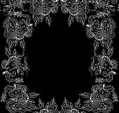 Beautiful abstract vector decorative frame with floral ornaments Royalty Free Stock Photo