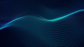 Beautiful abstract wave technology background with blue light digital corporate concept. Beautiful abstract wave technology background with blue light digital stock video footage